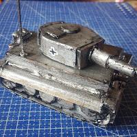 DIY World War II Tiger Tank Made from Scrap Plastic - Coroplast DIY - CoroplastCreations.com - photos by: HalifaxSportsPhotos.ca