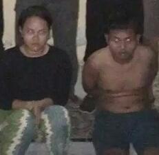 Pasutri tersangka pembunuh Santi Devi Malau.