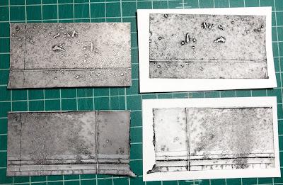 Splattered textures for pasta machine printing