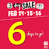 SM City Calamba - 3 Day Sale - Feb 14, 15, and 16 - Up to 70% OFF!!!