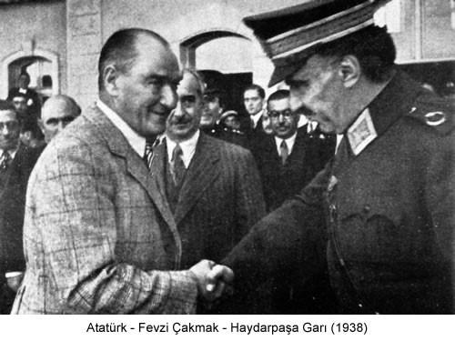 Atatürk Fevzi Çakmak 1938 Fotoğraf