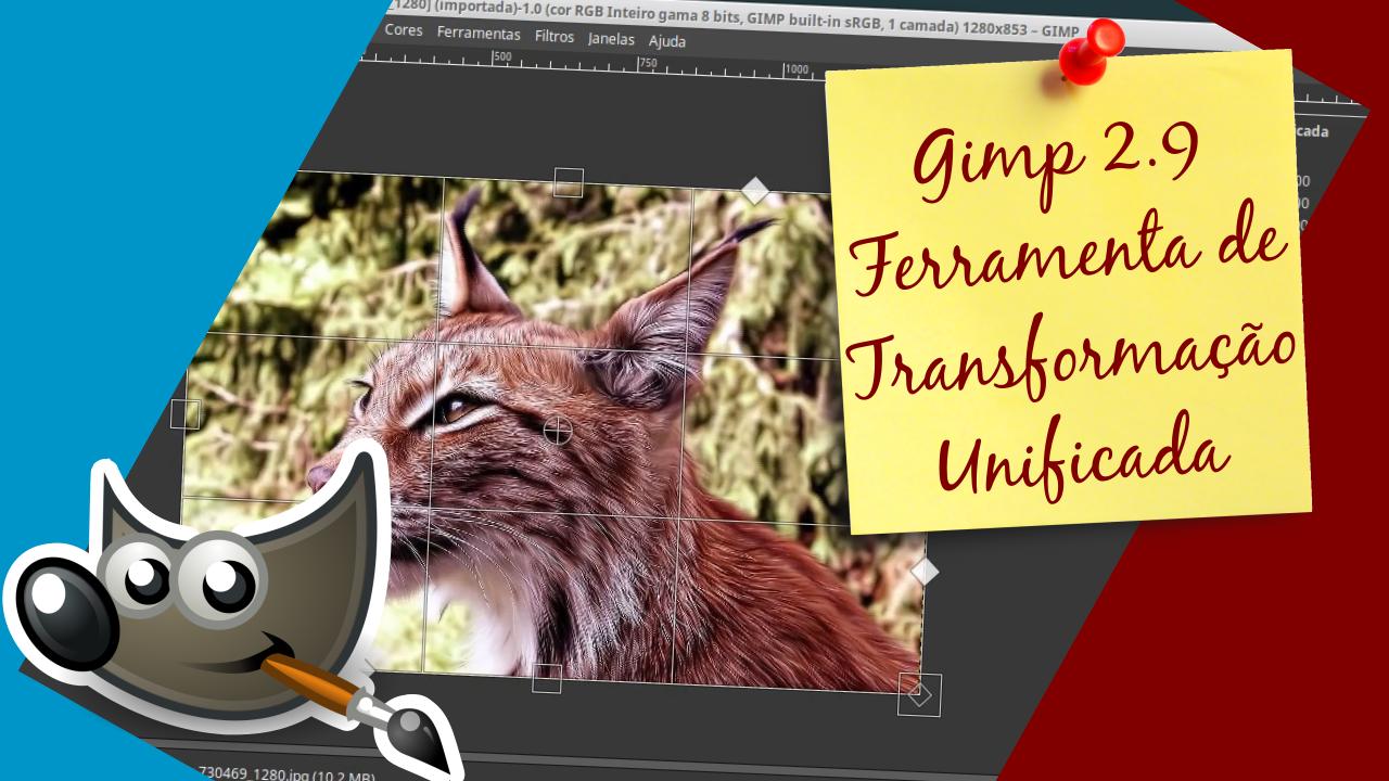 Transformação unificada do Gimp 2.9 - Diário de bordo #8