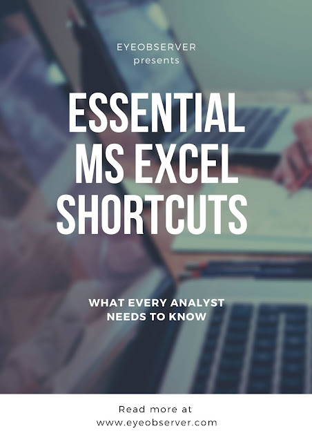 Important Microsoft Excel Shortcuts