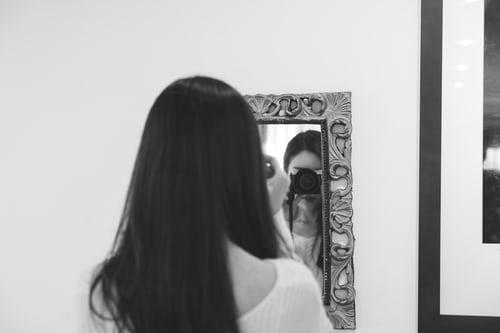 Self-portrait pose