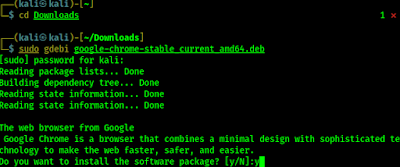 installing chrome on Kali Linux