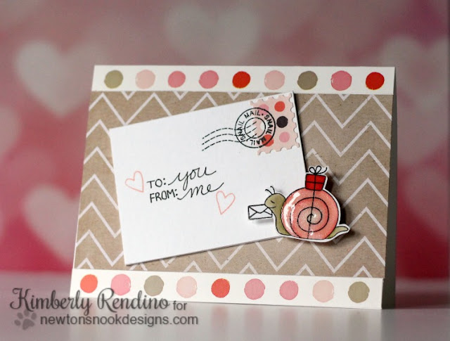 snail mail card by Kimberly Rendino for Newton's Nook Designs
