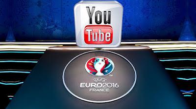 Δείτε το Euro 2016 στο Youtube