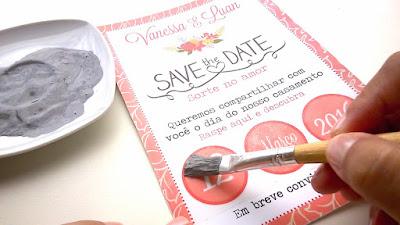 Como fazer um Save The Date Raspadinha