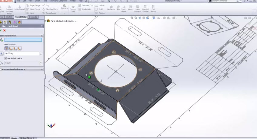 Sheet Metal 2d Autocad To