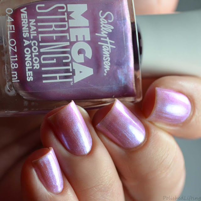purple frosty nail polish