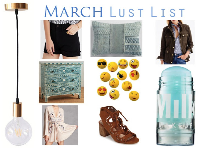 March Lust List