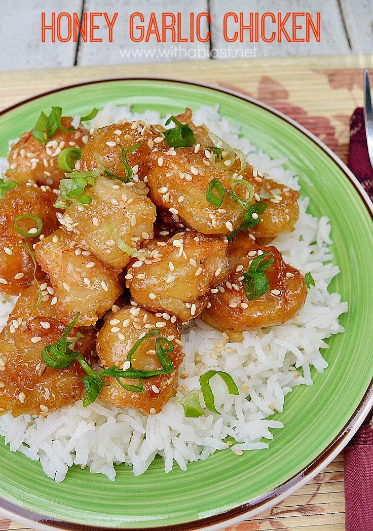 This Honey Garlic Chicken dish is SO much better & tastier than from any restaurant and makes a perfect, quick dinner