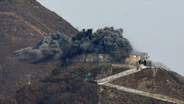 Corea del Sur derriba puestos fronterizos con el Norte