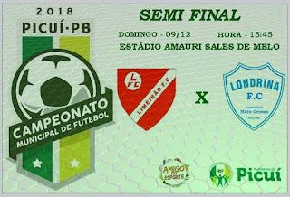 Neste domingo (9), acontece a 2ª semifinal do Campeonato Municipal de Futebol de Campo de Picuí