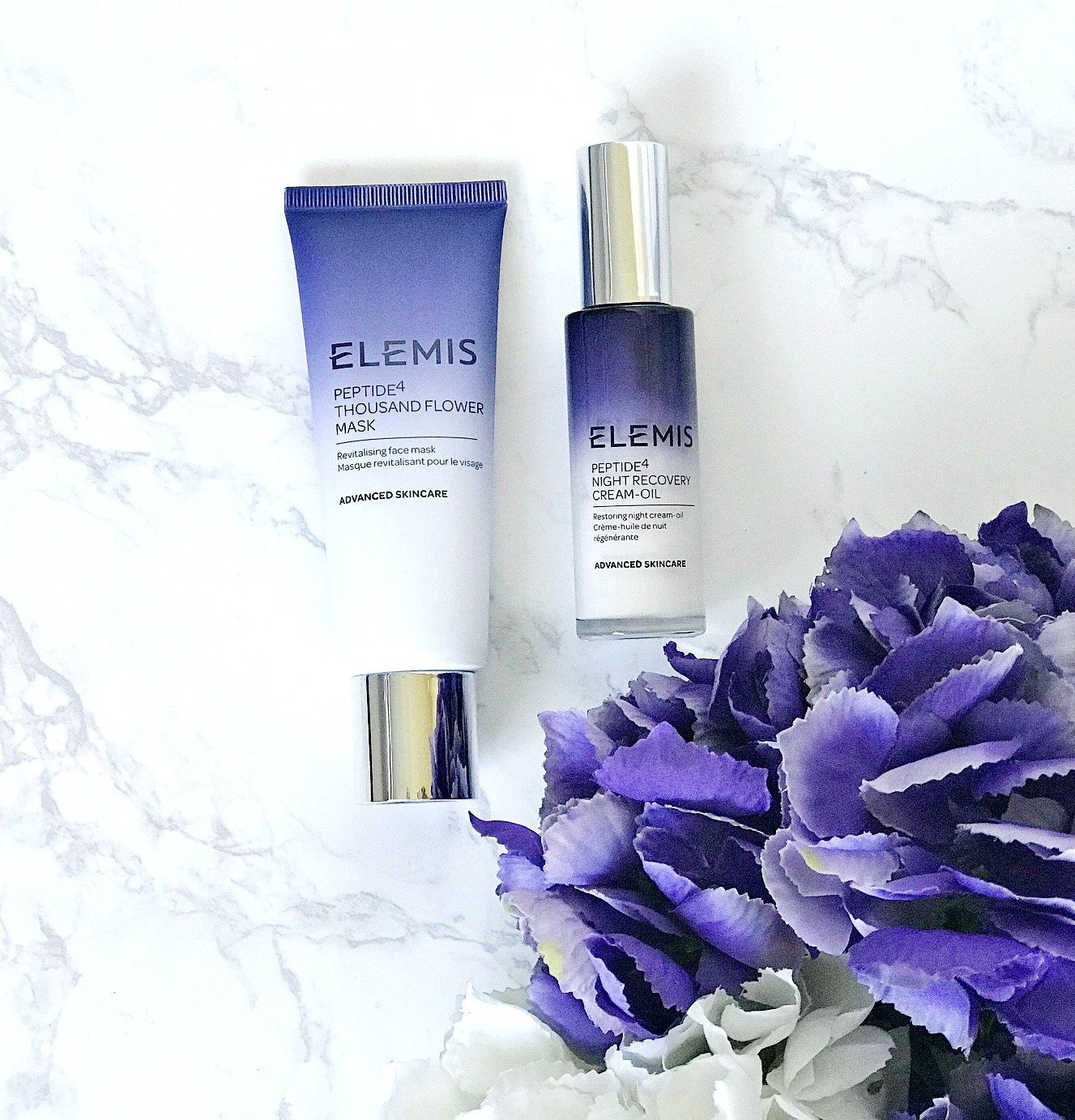 Elemis Peptide Thousand Flower Mask Review, Elemis Night Recovery Cream-Oil Review