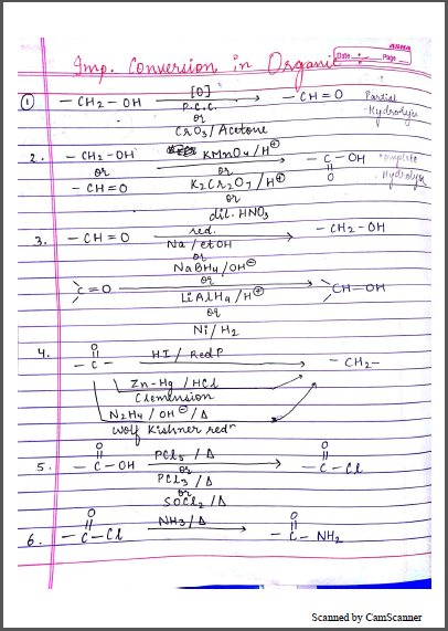 Chemistry Chapterwise Notes (Important Organic Conversions) : For JEE and NEET Exam PDF Book