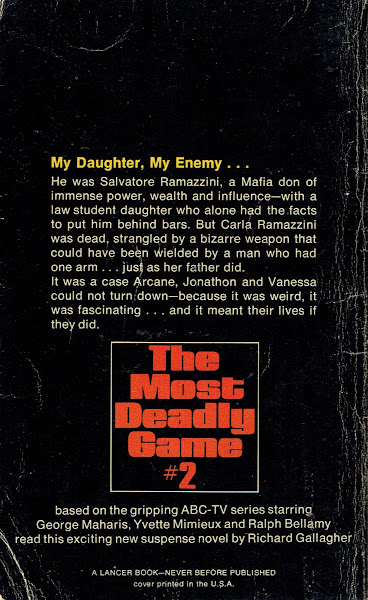 The Most Deadly Game Back Cover