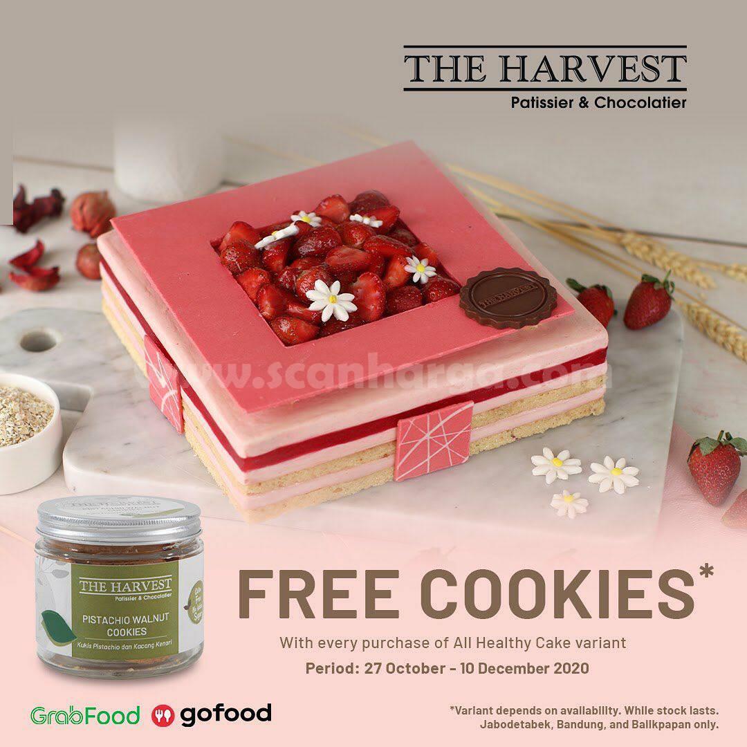 Promo The Harvest GRATIS Healthy Cookies via Gofood & Grabfood