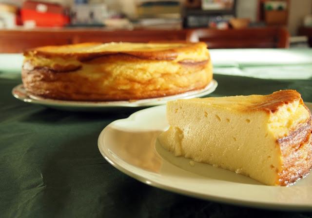 tarta de requeixo con mel