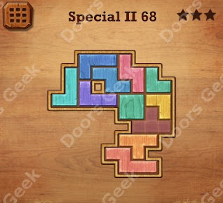 Cheats, Solutions, Walkthrough for Wood Block Puzzle Special II Level 68