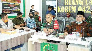 Pj Sekda Provinsi Jambi Pimpin Rapat Bersama Danrem GAPU Jambi Bersiap Kendalikan Karhutla