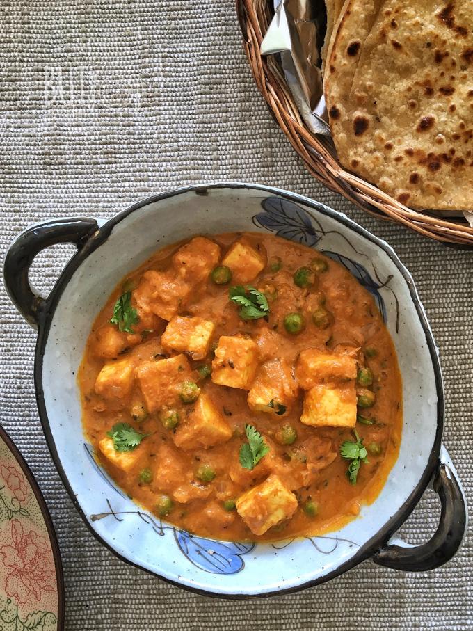 Matar Paneer | Peas and Paneer Curry