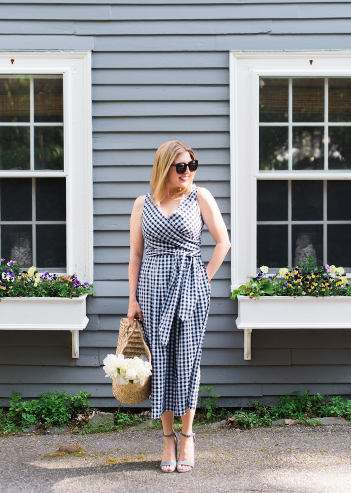 IMNYC Issac Mizrahi gingham dress