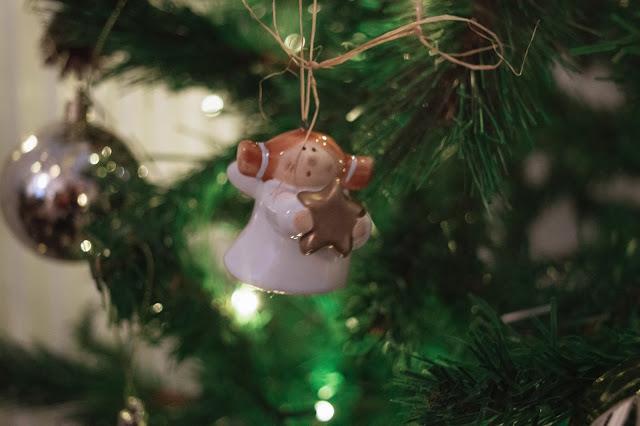 Christmas angel decoration close up