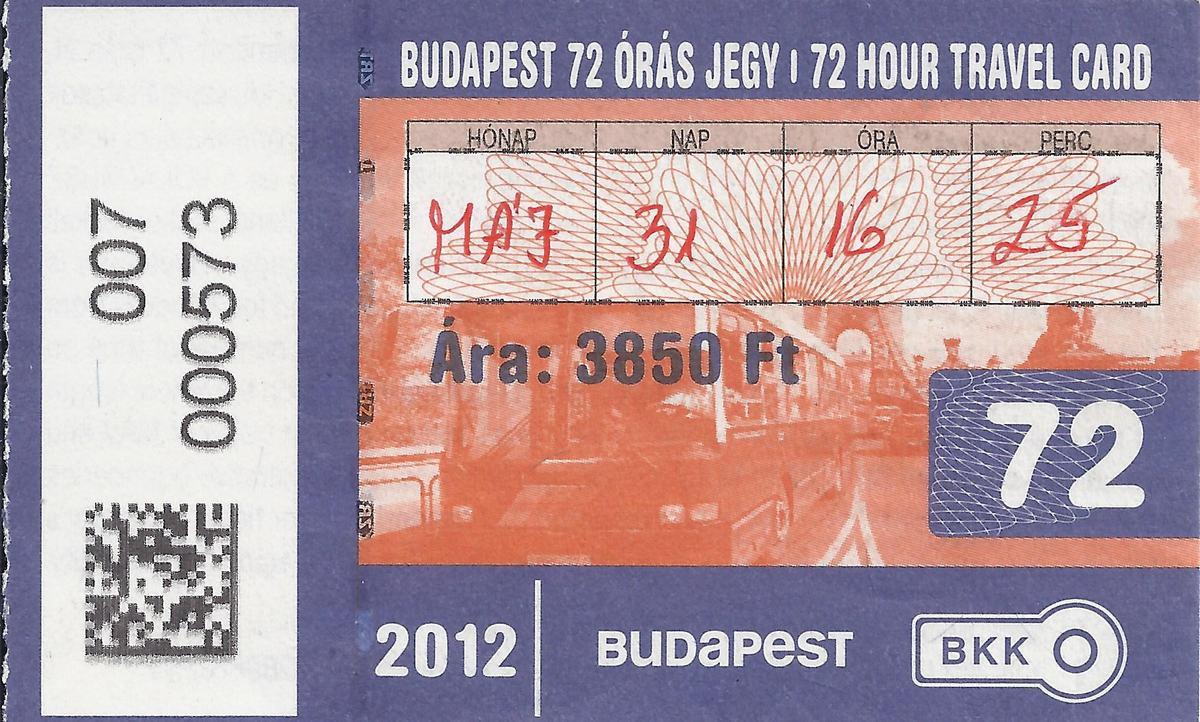 billete metro budapest
