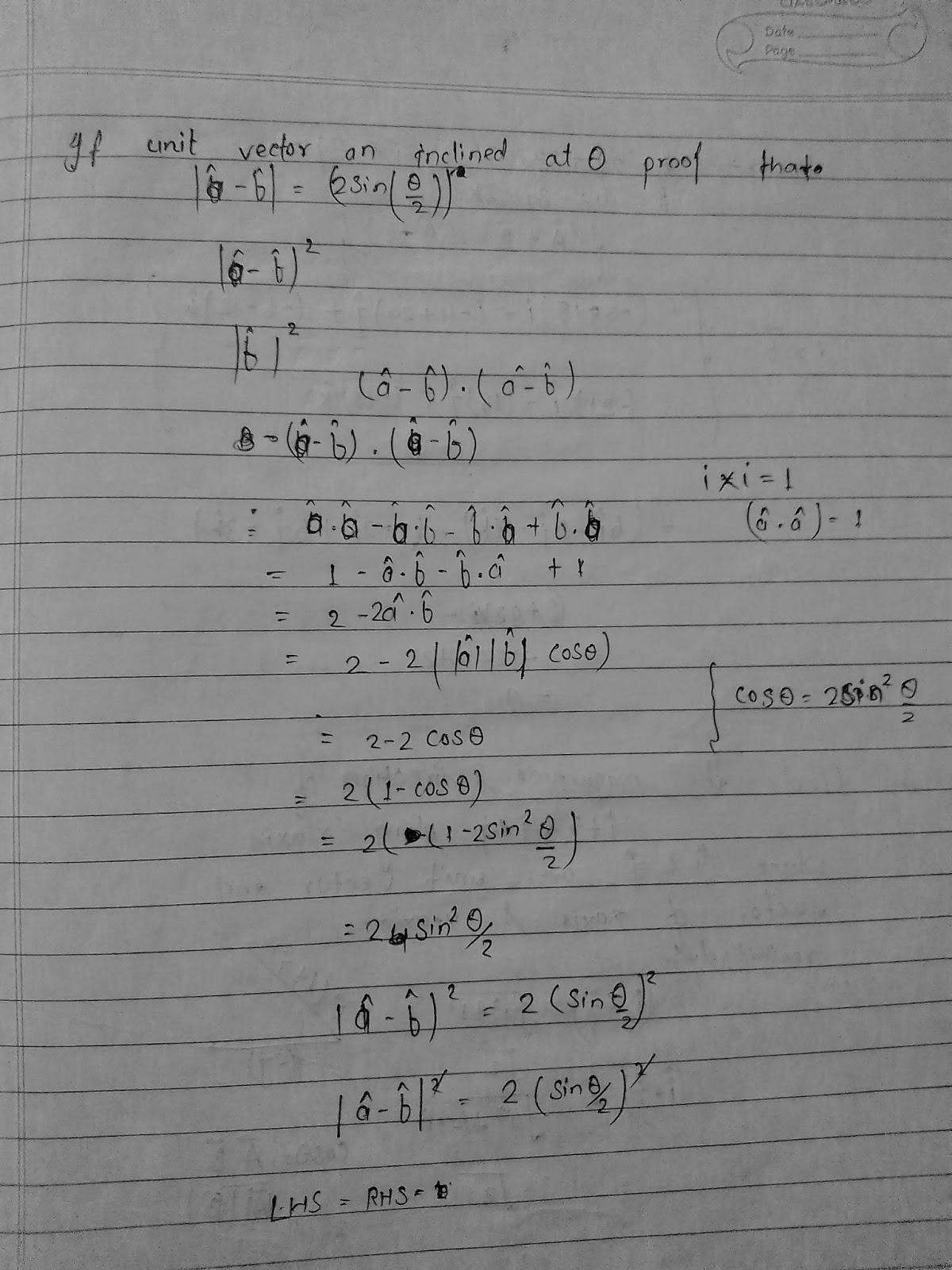 Class 11 physics ch 3