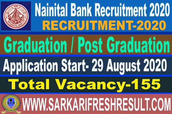 Nainital Bank Recruitment 2020-Apply Online For PO & Clerk For 155 Posts
