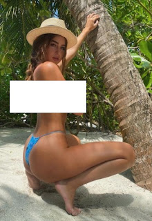UK- influencer- Georgia -Steel- topless- bikini- photo