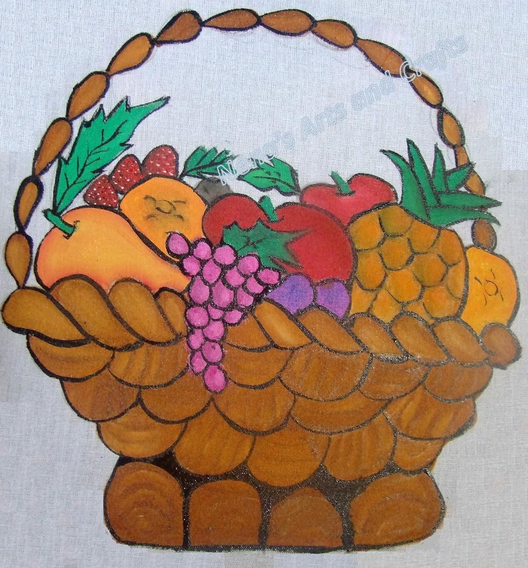 Nena's Arts and Crafts: Fabric painting-DIY-Fruit Basket