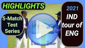 England vs India Test Series 2021
