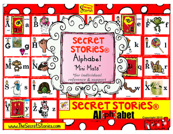 Secret Stories® Phonics BETTER Alphabet Mini-Mat for Individual Reference & Home Use