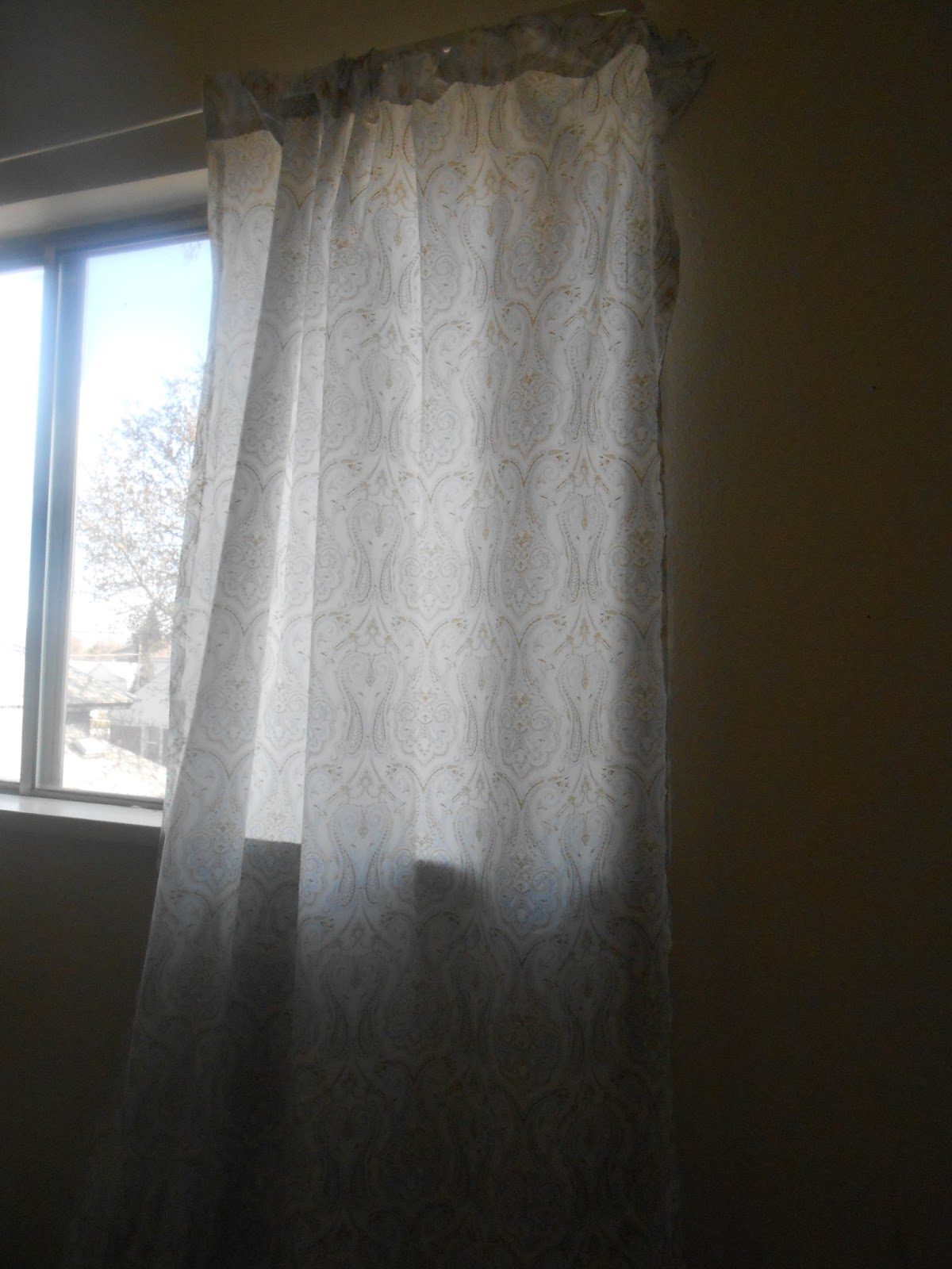 Recipes Crafts And Life Diy Curtains Out Of Bed Sheets No Sew