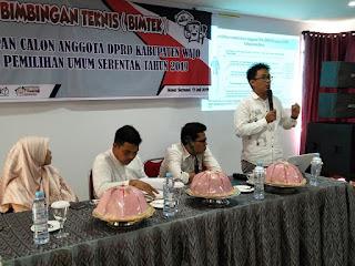 Bimbingan Teknis Penetapan Calon Anggota DPRD Kabupaten Wajo Pemilu 2019