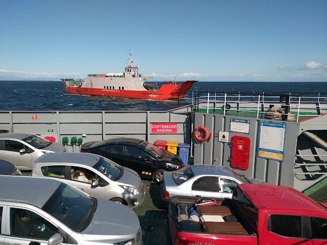 Ferry a Chiloé, Chile