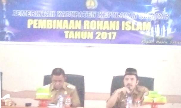 Wakil Bupati, Buka Kegiatan, Pembinaan Rohani Islam 2017