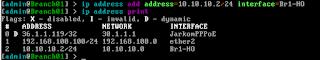 Penambahan IP Address pada interface EoIP