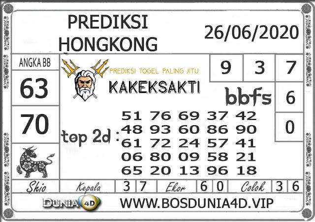 Prediksi Togel HONGKONG DUNIA4D 26 JUNI 2020