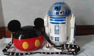 Tokyo Disneyland Popcorn buckets R2D2 and Mickey bucket