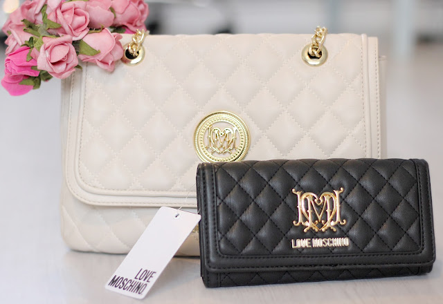 Moschino quilted handbag and purse