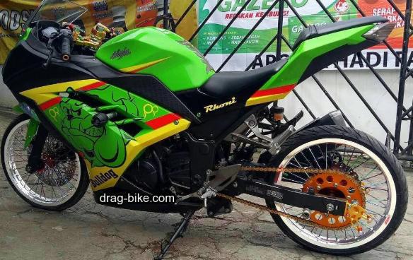 10 Modifikasi Motor Ninja 250 4 Tak Fi Dan Karbu Jari Jari