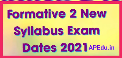 Formative 2 New Syllabus Exam Dates 2021 (Modified) – Formative 2 Model Question Papers, Pattern.