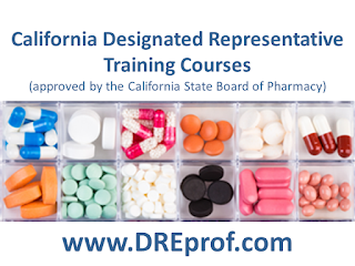 California Designated Representative Training (approved by the California State Board of Pharmacy)
