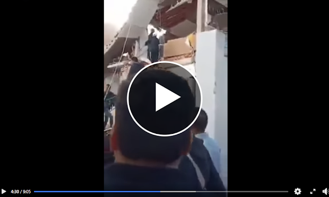 شاهد فيديو  جديد من  حي الزهور العاصمة : إنفجار قارورة غاز يتسبب في انهيار بناية و وفاة  سكان البناية