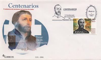 sobre, sello, PDC, matasellos, Correos, Francisco Javier