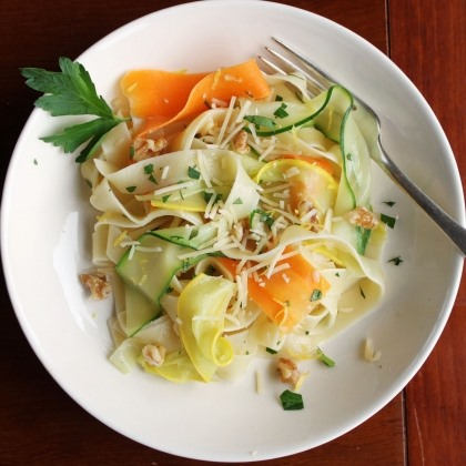 Pappardelle and Veggie Ribbons