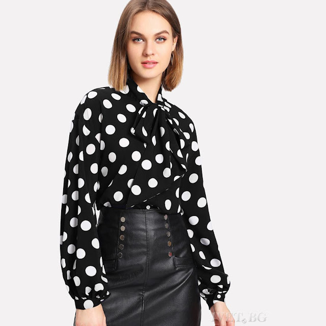 Μακρυμάνικο μαύρο με άσπρο πουκάμισο BORELA